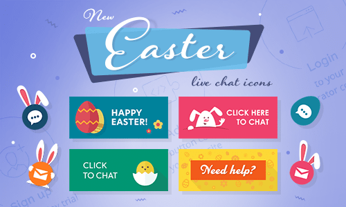 Live chat icons for spring holidays